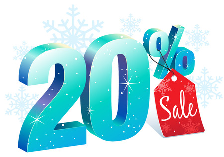 pricetag: Twenty Percent Winter Sale Discount