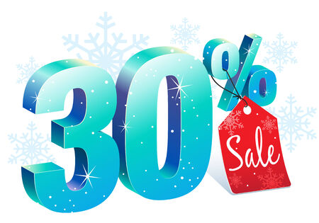 pricetag: Thirty Percent Winter Sale Discount