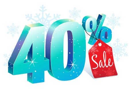 40 % 겨울 할인 판매