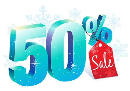 pricetag: Fifty Percent Winter Sale Discount