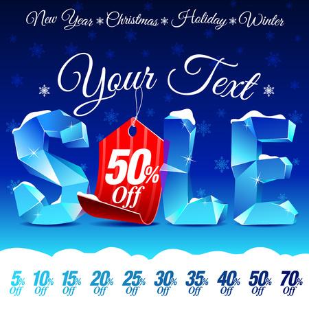 Christmas Sale Discount 向量圖像