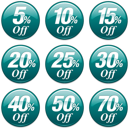 40: Shopping Sale Discount Badge in Teal