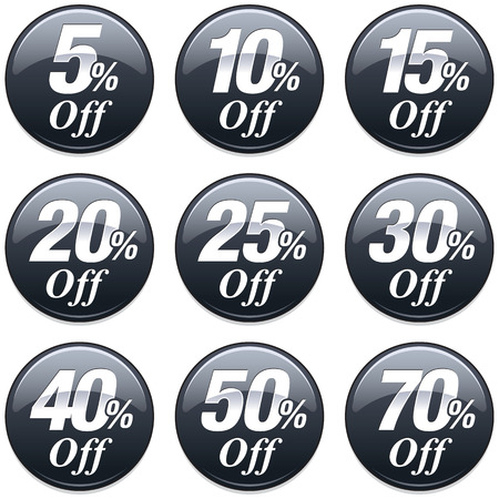 40: Shopping Sale Discount Badge in Black