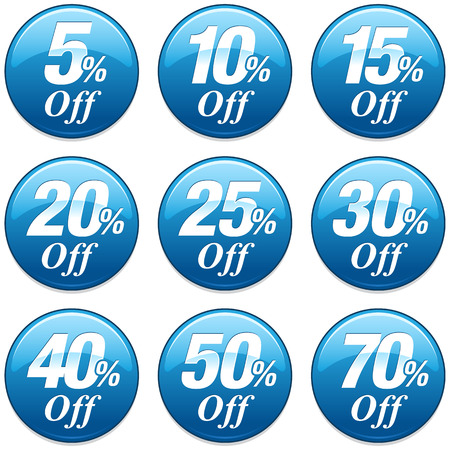 40: Shopping Sale Discount Badge in Blue