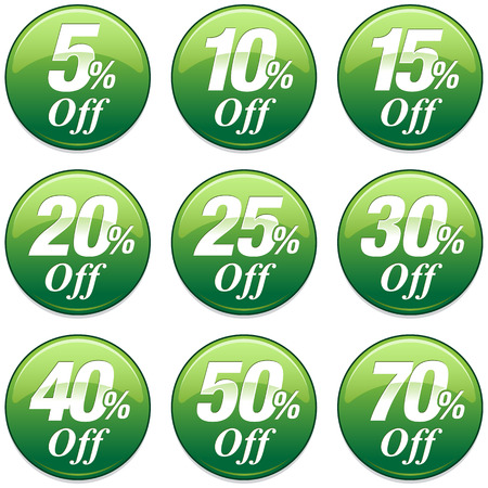 40: Shopping Sale Discount Badge in Green