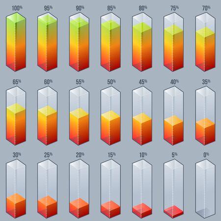 bar graph: Infographic Bar Graph Chart Design Elements