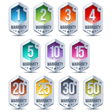 Warranty Seal Hexagon Chrome Badge