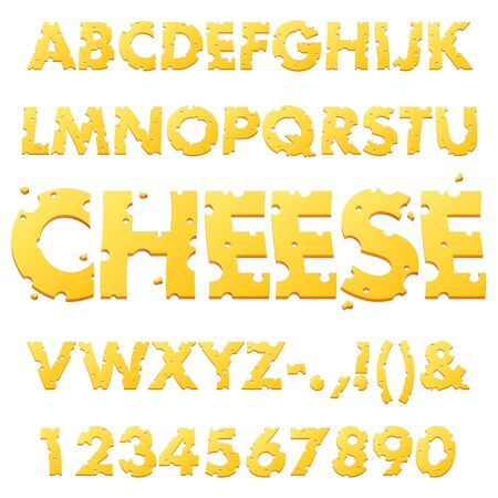 Swiss Cheese Alphabet Letters
