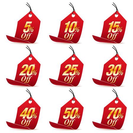 ショッピング販売割引赤い値札