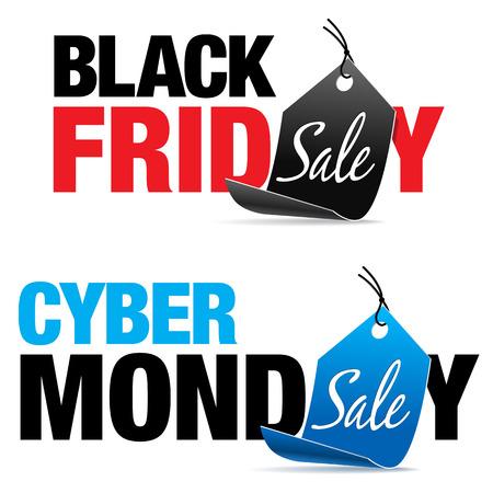 preto: Black Friday e Cyber ??Monday Venda Ilustração