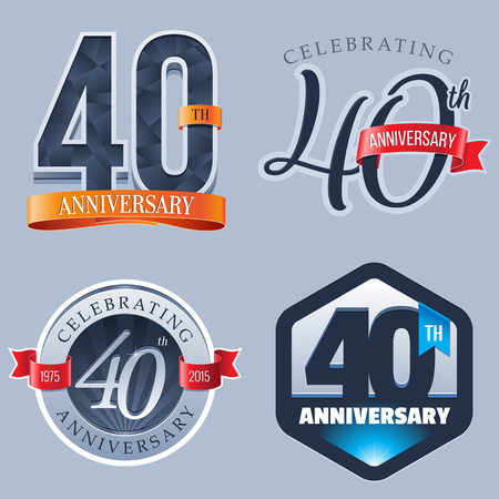 badge logo: 40 Years Anniversary Logo