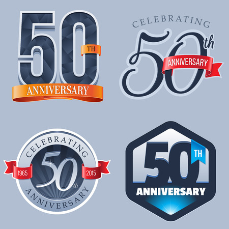 50 年周年記念ロゴ  イラスト・ベクター素材