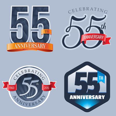 stamp: 55 Years Anniversary Logo