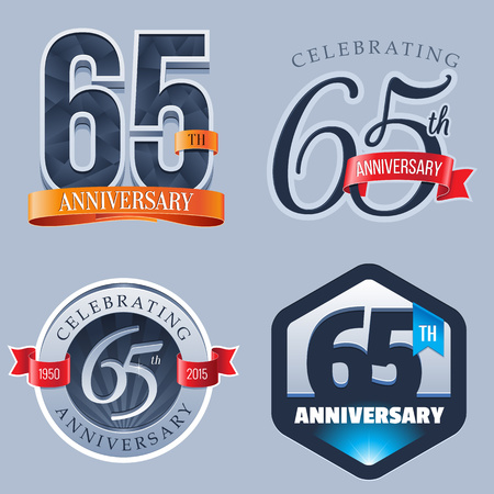 congratulations banner: 65 Years Anniversary Logo