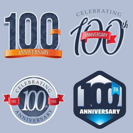 100 주년 기념 로고