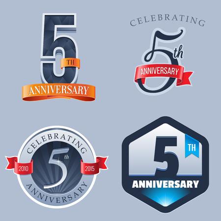 5 ans d'anniversaire Logo Banque d'images - 49801939