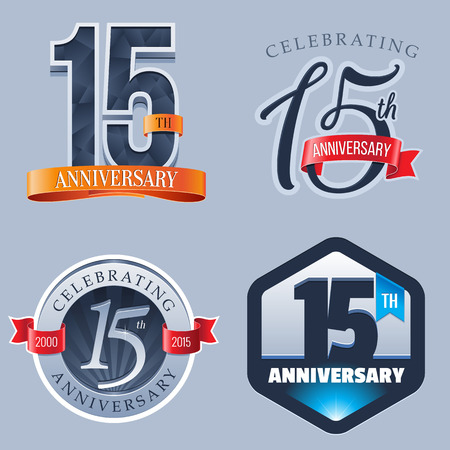 15: 15 Years Anniversary Logo