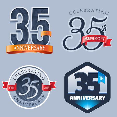 celebração: 35 anos de aniversário Logo