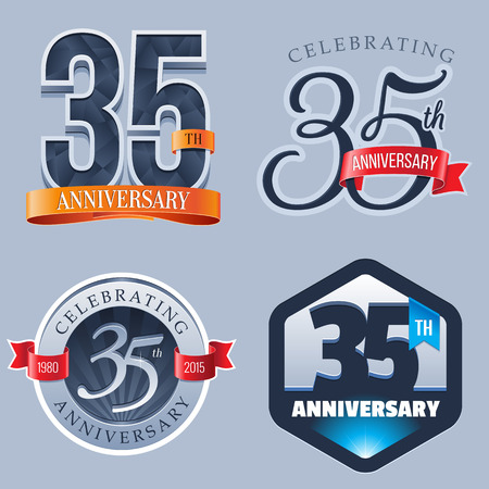 five year: 35 Years Anniversary Logo