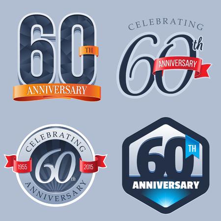 60 년 주년 기념 로고