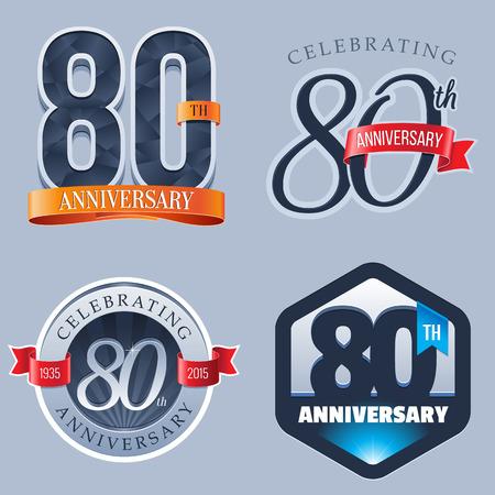 80 年周年記念ロゴ