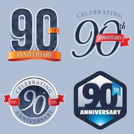 90 Years Anniversary Logo 向量圖像