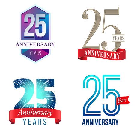 25 周年記念  イラスト・ベクター素材
