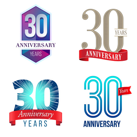 30 Years Anniversary Illustration