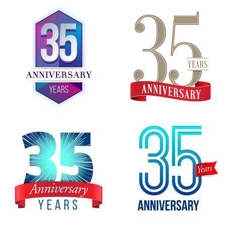 35 Years Anniversary Logo Royalty Free Cliparts Vectors And Stock