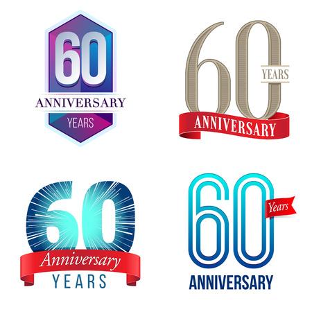 60 Years Anniversary Иллюстрация
