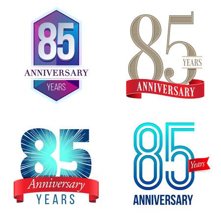 85 年周年記念ロゴ