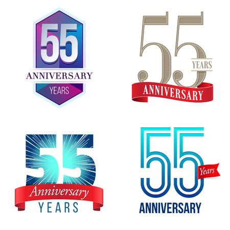 55 Years Anniversary 向量圖像