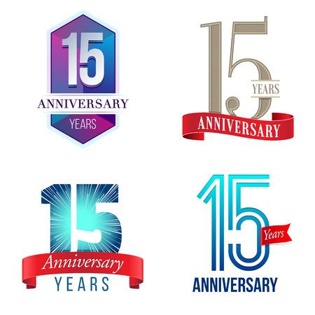 15 Years Anniversary 向量圖像