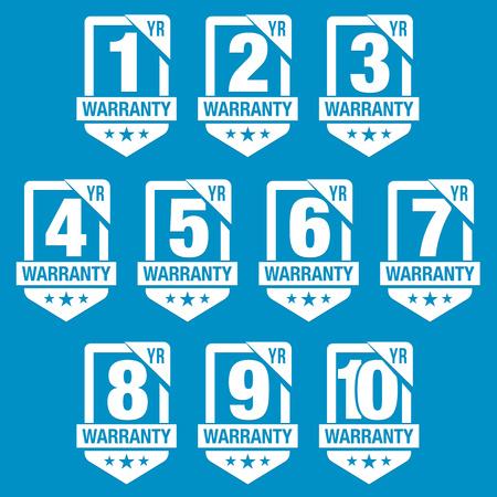 8 10 years: Warranty Seal Shield Badge