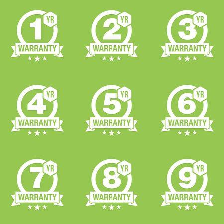 warranty: Warranty Seal Round Badge