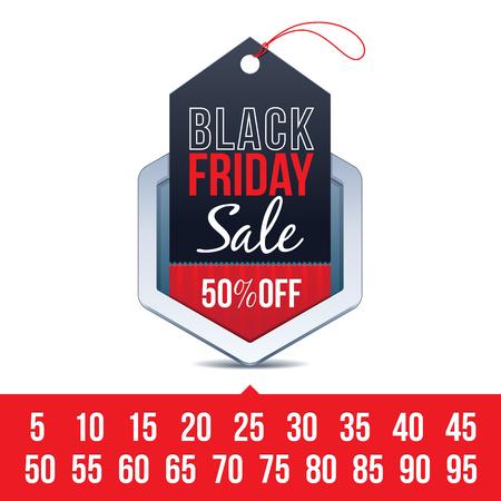 pricetag: Black Friday Sale Badge
