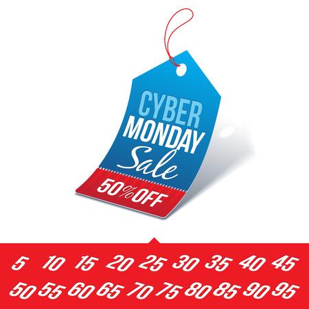 サイバー月曜日販売価格タグ  イラスト・ベクター素材