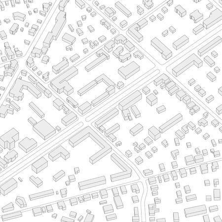 city background: Imaginary city plan. City background. Abstract city background illustration without name. Isometric vector illustration Illustration