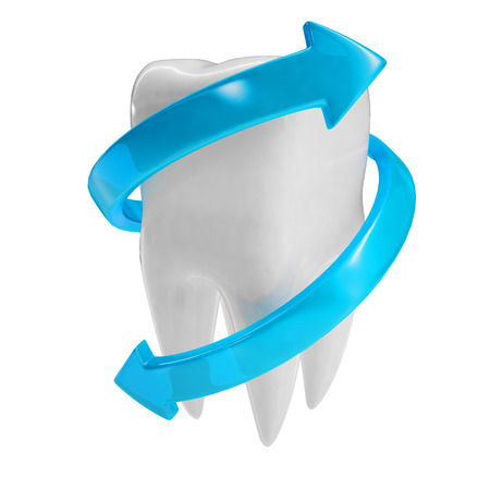 fluoride toothpaste: 3d illustration of a tooth