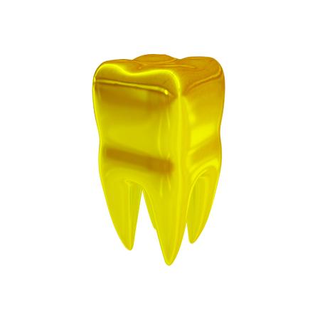 골드 치아의 3d 일러스트
