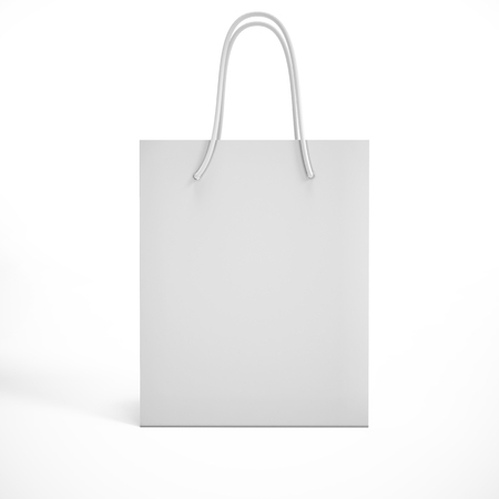white package on a white background. mock up Banque d'images