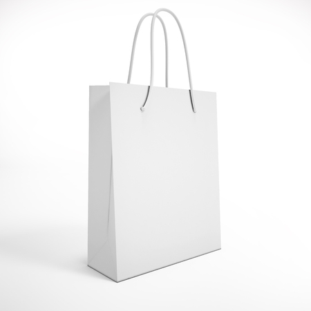 white package on a white background. mock up Stock Photo