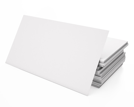 3d illustration business cards Stock Photo