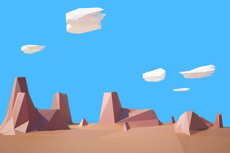 colorado mountains: low poly desert colorado