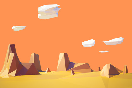 desert landscape: low poly desert colorado