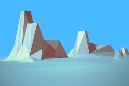 monument valley: low poly desert colorado