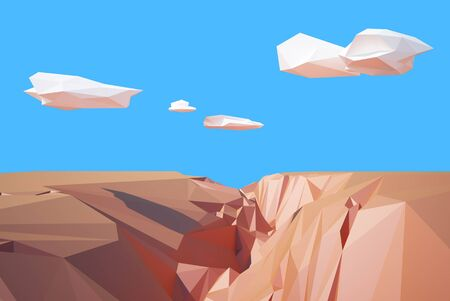 colorado rocky mountains: Grand Canyon low poly