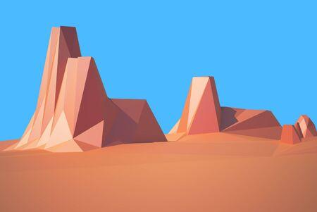 colorado rocky mountains: low poly desert colorado