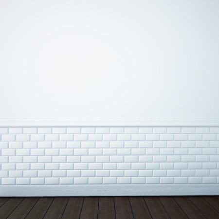 render of an empty bathroom wall Standard-Bild