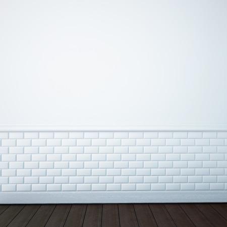 render of an empty bathroom wall Archivio Fotografico
